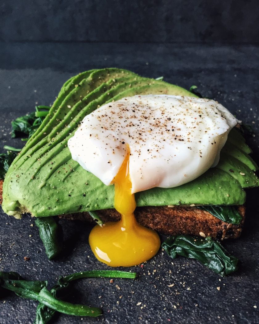 poached egg on avo toast
